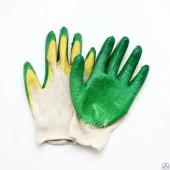 Перчатки вязаные с латексным покрытием