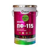 Эмаль желтая ОМЕГА, 0,9 кг