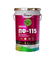 Эмаль светло-зеленая ОМЕГА, 0.9 кг